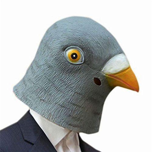 Masque de Pigeon en Latex Accessoire Déguisement Costume Halloween