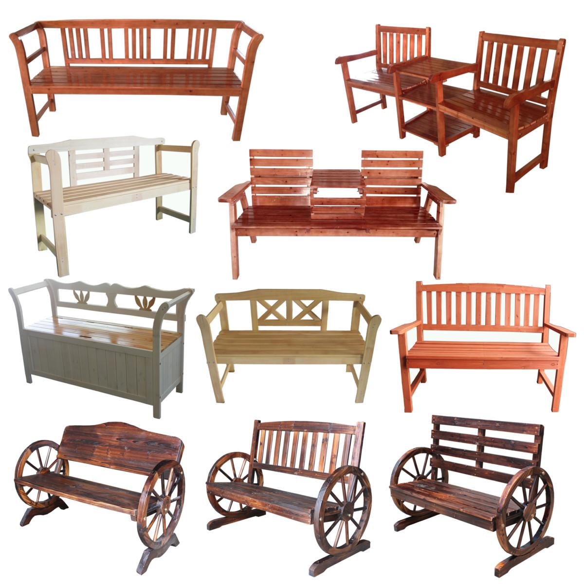 Table de jardin en bois avec banc - TopiWall