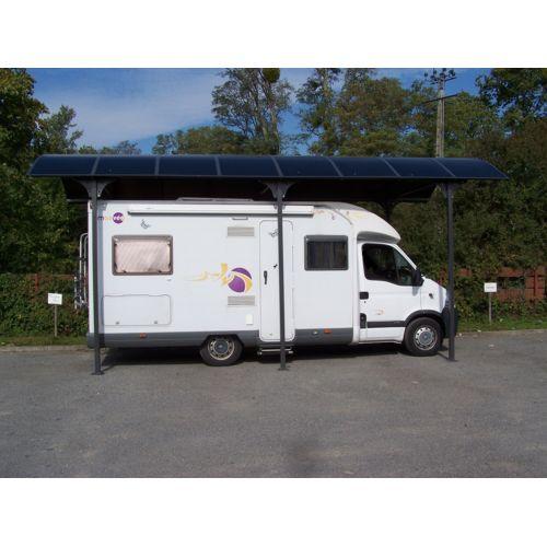 Bouvara carport pour camping car 3,60×7,60 m en aluminium ; 27m2