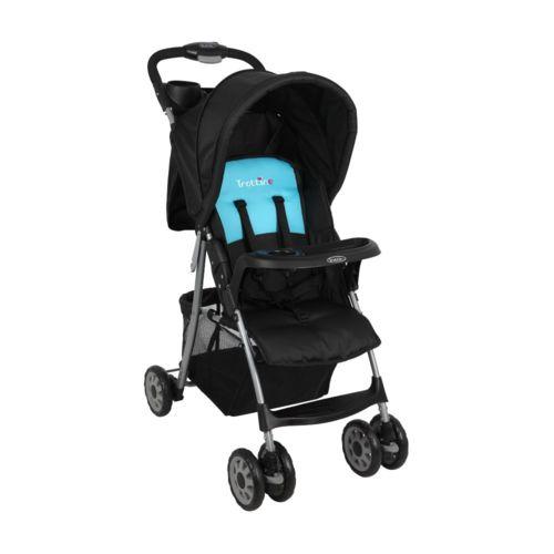 TROTTINE Poussette bébé Compact Neo Noir & Turquoise De 6 mois