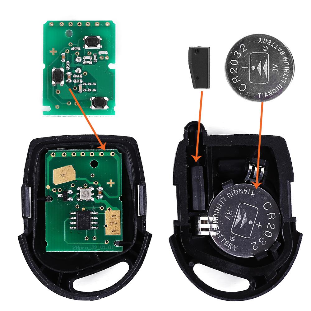 CLE Telecommande Avec Circuit Electrique Pour Ford Mondeo KA Transit