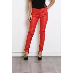 Pantalon rouge Maudfontenoy cuir femme rouge femme cuir Maudfontenoy cuir Pantalon Pantalon xqZqHPfwp