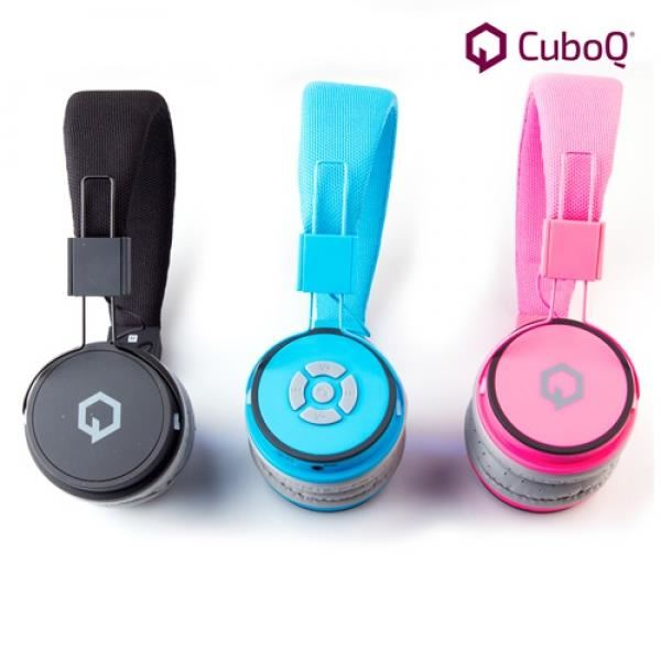 Casque audio sans fil Bluetooth avec micro bleu casque écouteur
