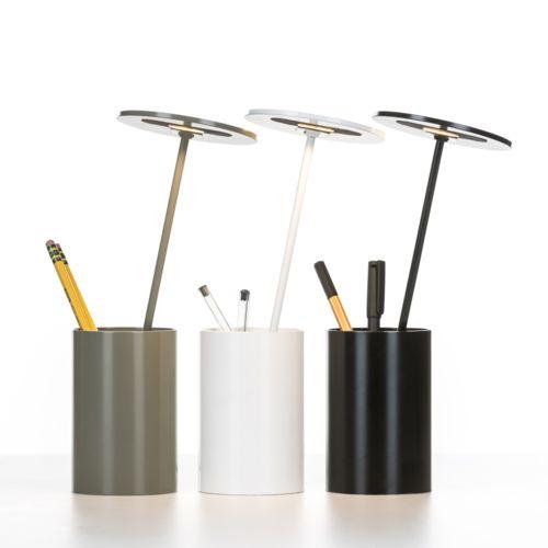 Formagenda E.T Lampe de bureau/Pot à crayons lumineux Led Noir H26