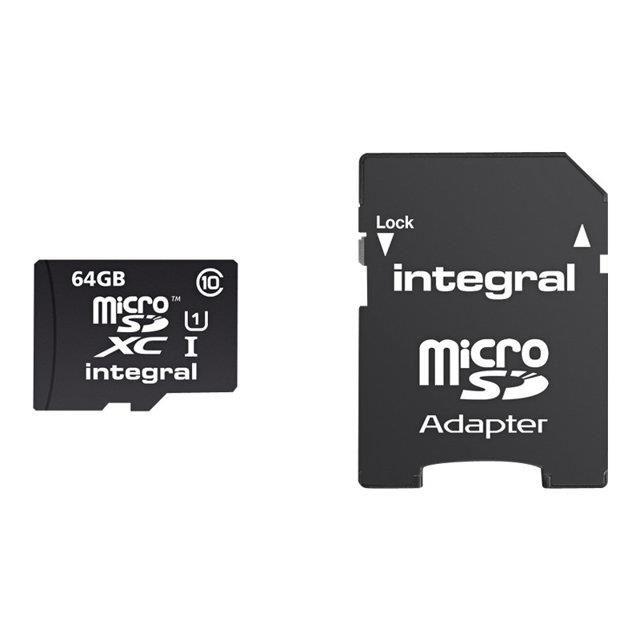 Intégral MicroSD 64 Go class 10 Achat carte mémoire pas cher, avis