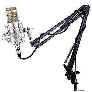 Mugig Set Microphone à Condensateur avec Support Suspendu Réglable