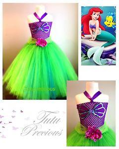 Inspire Disney Ariel la petite sirene robe Tutu Deguisement Costume