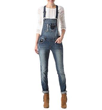 Promod Salopette en jean Femme Jean moyen 44: Vêtements et