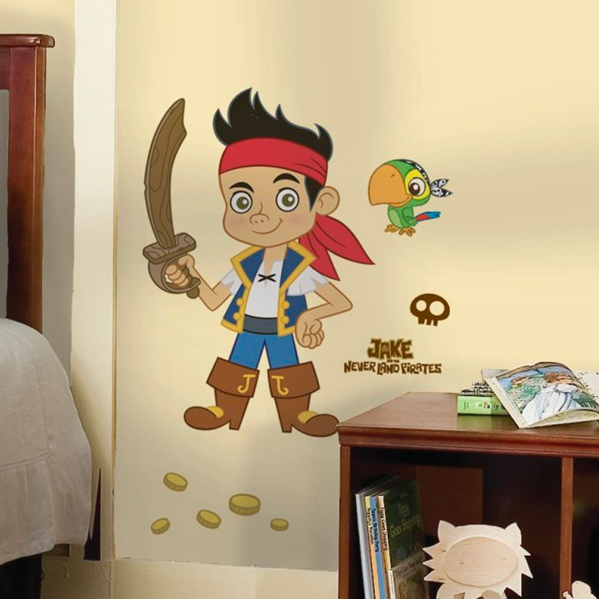 image Stickers Géant Jake et les Pirates du pays imaginaire Disney