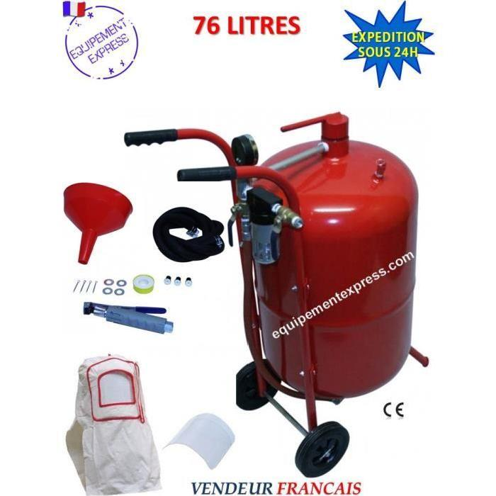 Sableuse mobile 76 litres 4 à 8 bar complète avec accessoires