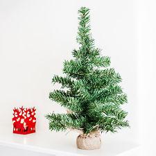 Mini Sapin de Noël Artificiel Pied en Toile de Jute Déco de Table