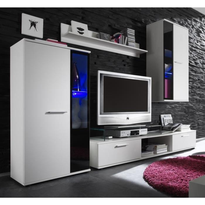 meuble tv SALSA Meuble TV mural + LED Panneaux de particules