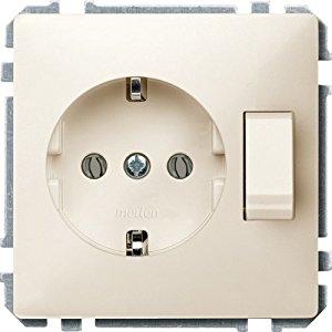 Merten 272444 Prise Schuko avec interrupteur Blanc/crème