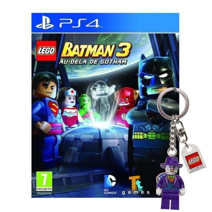 PS4+Porte clé Achat / Vente jeu ps4 nouveauté Lego Batman 3 PS4