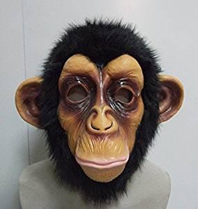 Masque Latex Intégral Chimpanzé Halloween Bruno Mars Lazy Song