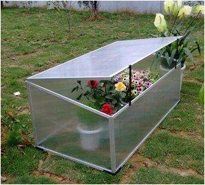 ASS Mini serre de jardin 100 x 60 x 40 / 30 cm: Jardin