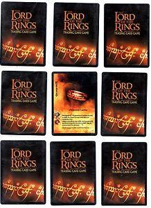 Le seigneur des anneaux lotr ccg tcg mount doom foil cartes rares 5 6