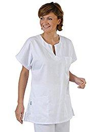 Label blouse Tunique médicale type marinière Femme 3 poches col