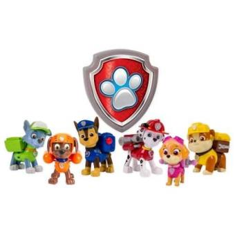 Pack 6 Figurines Paw Patrol Sac à Dos Transformable Spinmaster