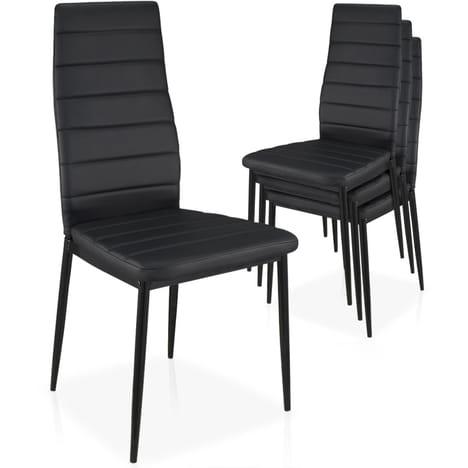 MENZZO Lot de 4 chaises Stratus Empilables LOT DE 4 CHAISES