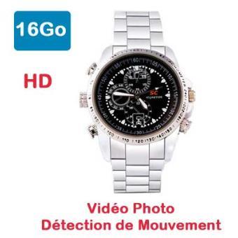 Montre caméra espion HD 16Go dét. mouvement SportM, Top Prix | fnac