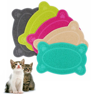 Tapis Litiere Animal Chien Chat Alimentaire Bol Dish Antiderapant Anti