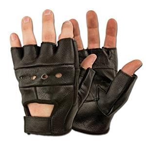 Gants Mitaines 100% Cuir US Army Coloris Noir Taille Médium