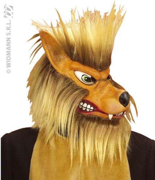 Masque loup complet avec poils latex