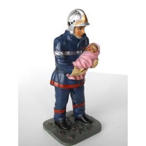 Pompier sauvant un enfant Achat / Vente objet décoratif