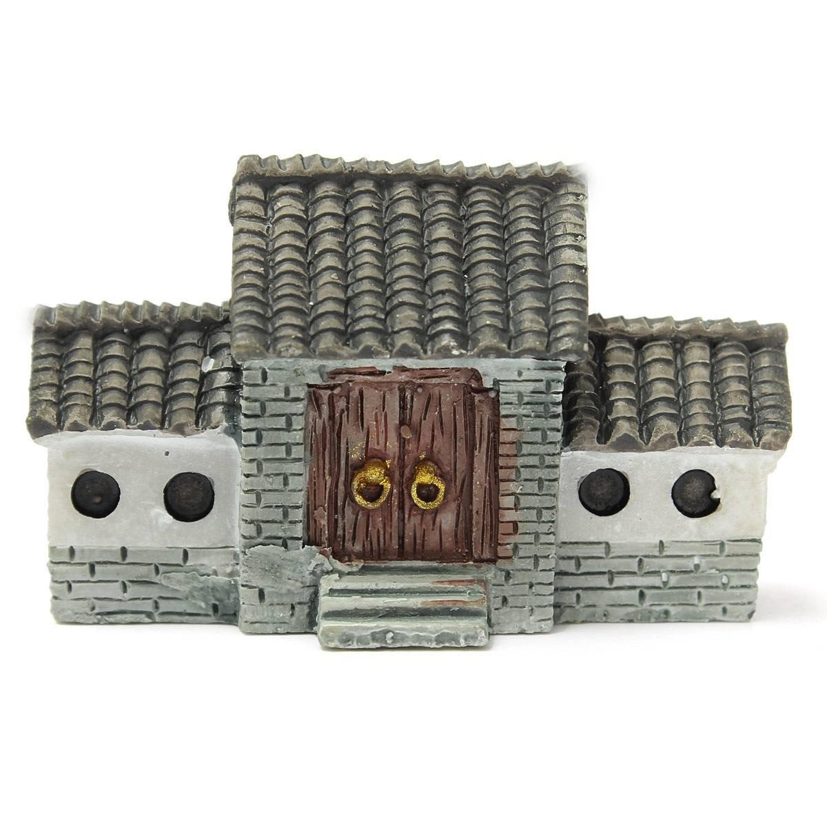 10X miniature villa maison pots ornement chinois ville ancienne porte