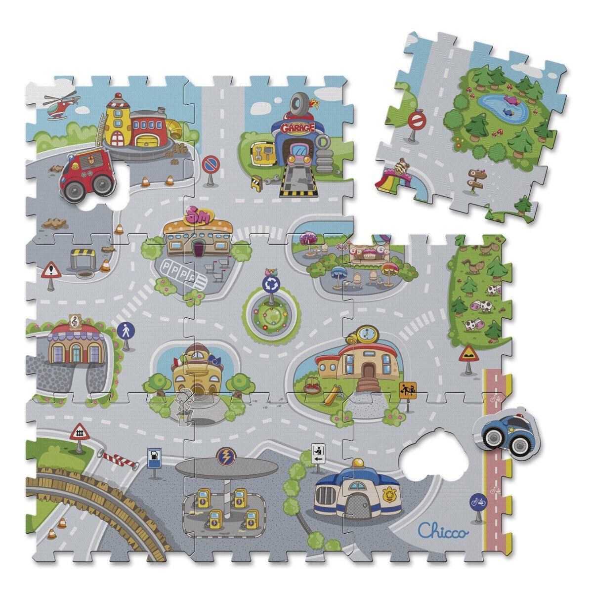 Tapis puzzle city de Chicco, Tapis d'éveil : Aubert