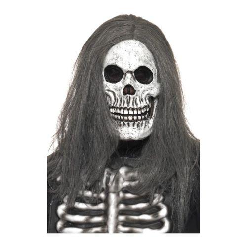 Masque latex squelette sinistre Blanc pas cher Achat / Vente Masques