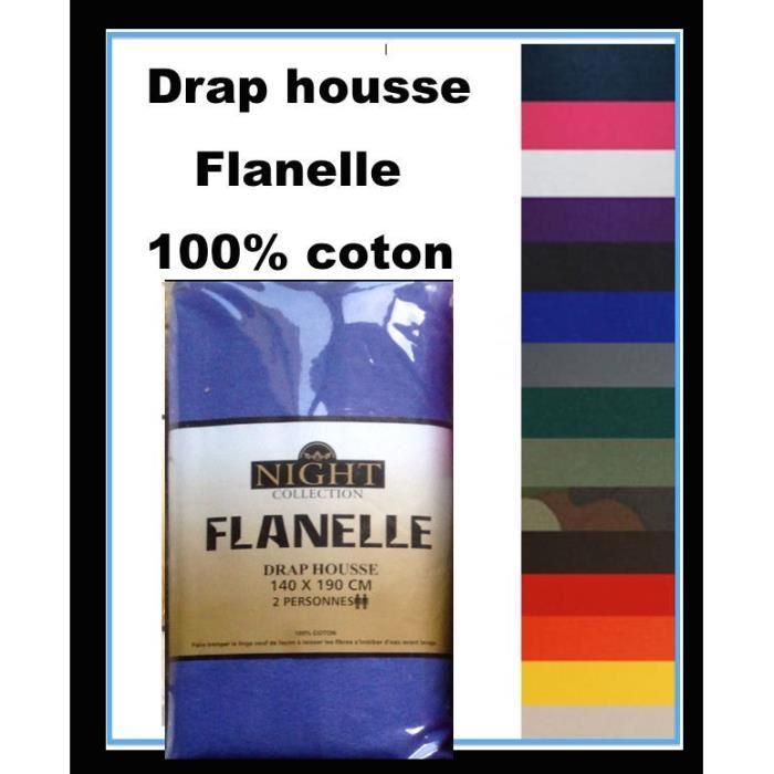 Draps Housse 100% Pur Coton gratté Flanelle tres tres douce et