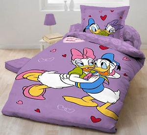 Parure de Lit Housse de Couette Donald Daisy Disney 100% coton Linge