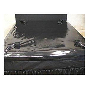 Drap housse Etanche Noir Avec 4 accroches Pour Menottes