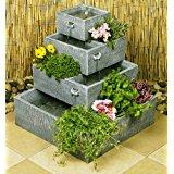 de élégant vert h.43 cm Fontaine de jardin fontaine Doré Robinet