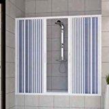 Pare baignoire douche en Plastique PVC mod. Nina 160 cm avec ouverture