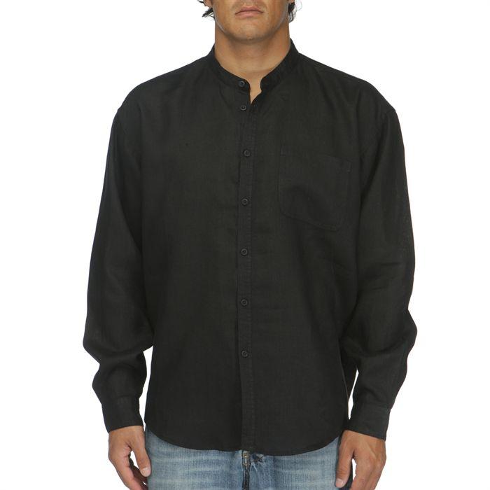 lin homme Noir Achat / Vente chemise chemisette Chemise 100% Lin