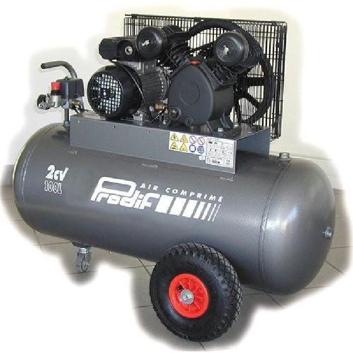 compresseur courroie bi cylindre v 100 l 2 cv p? Achat / Vente