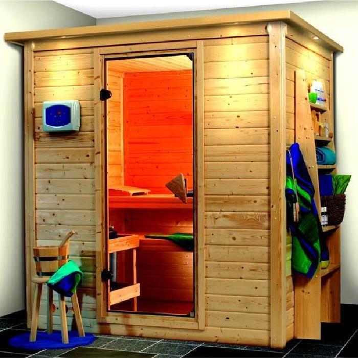 Sauna Traditionnel 40Mm 3 Personnes Bois Massif Achat