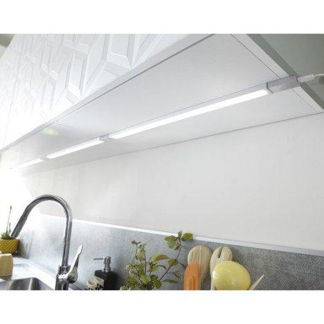Réglette à fixer plate led intégrée 35 cm Rio INSPIRE 3,5 W gris
