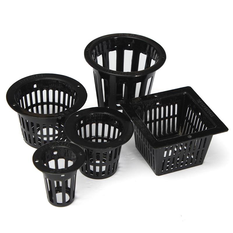 10pc Mesh Pot panier Net+Insert Mousse pour Hydroponique Plante Maille