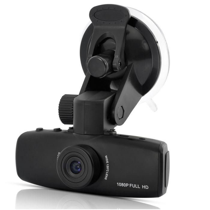 Dashcam caméra DVR pour voiture Full HD 1080P avec capteur gravité