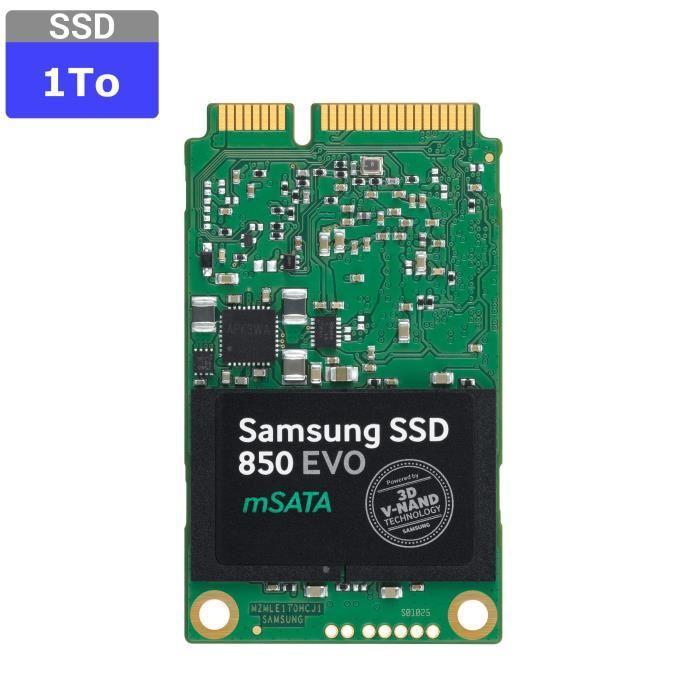 Samsung 1To SSD 850 EVO mSATA Prix pas cher