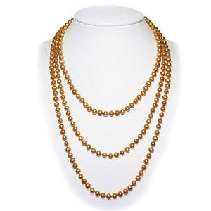 Blue Pearls Collier Sautoir Perles de culture Or 162 cm ! BPS 0006 L