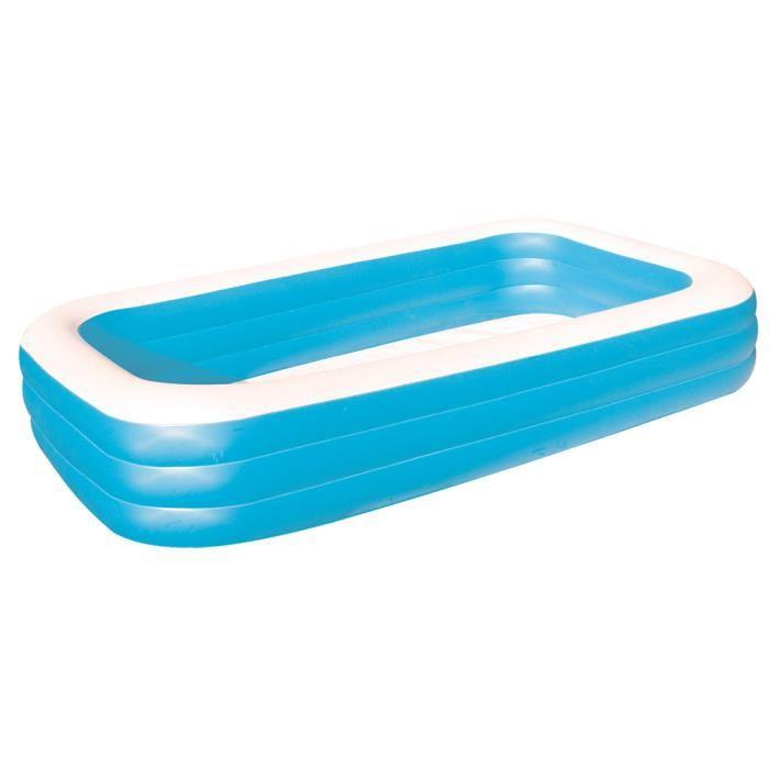PISCINE GONFLABLE Piscine gonflable Bleu Deluxe 310 X 188 X 59cm