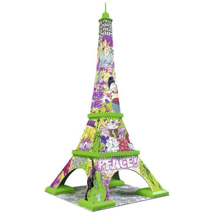 Puzzle 216 pièces Puzzle 3D Tour Eiffel Pop Art Achat / Vente