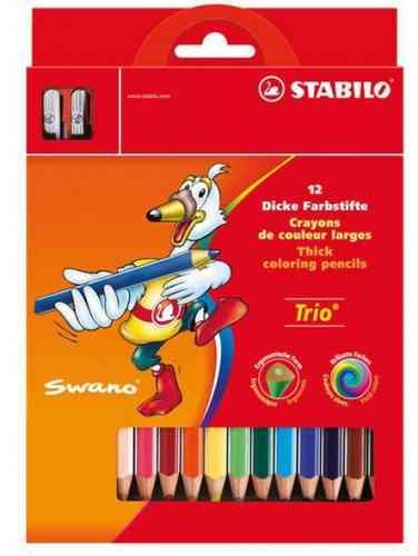 Crayons de couleur «Trio» Etui de 12