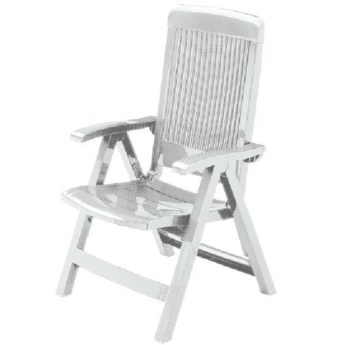 Fauteuil Fidji III Blanc Achat / Vente fauteuil jardin Chaises de