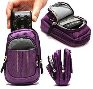 étui Navitech (violet) appareil photo numérique pour Panasonic Lumix